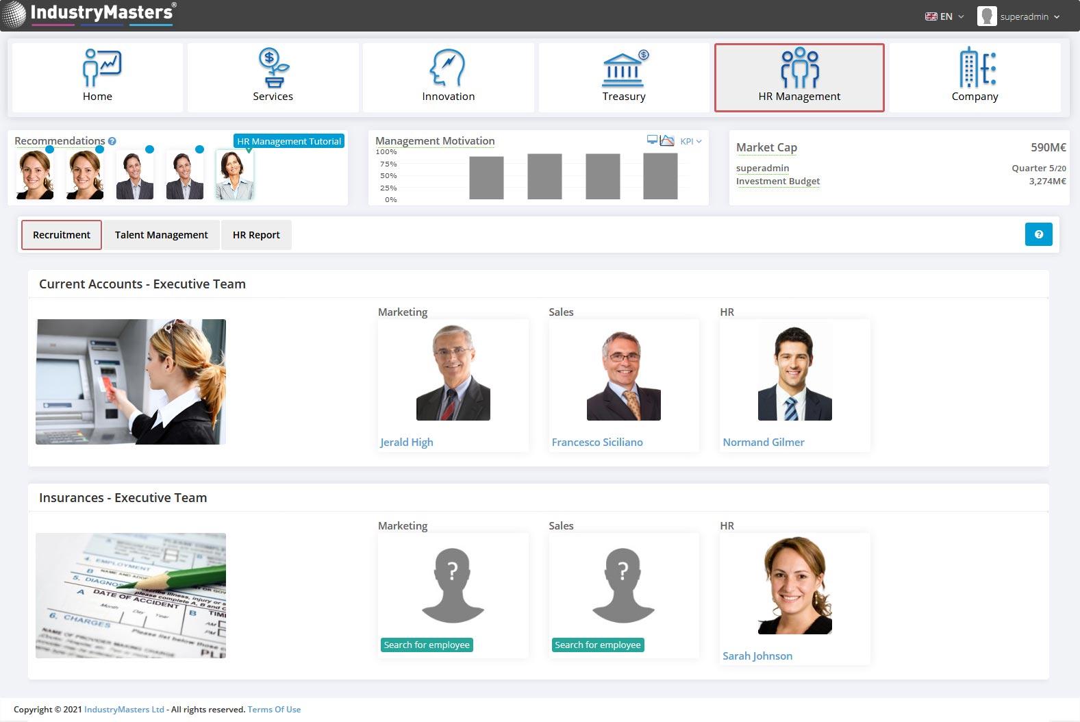Banking HR Talent Recruitment Simulation
